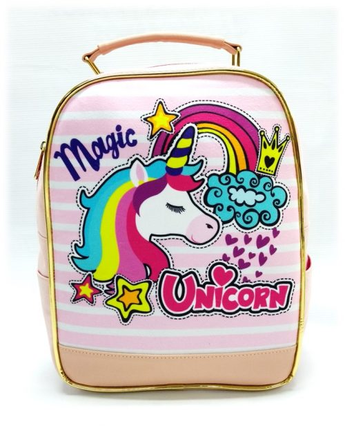 Morral niña magic unicornio 126 rosado frente
