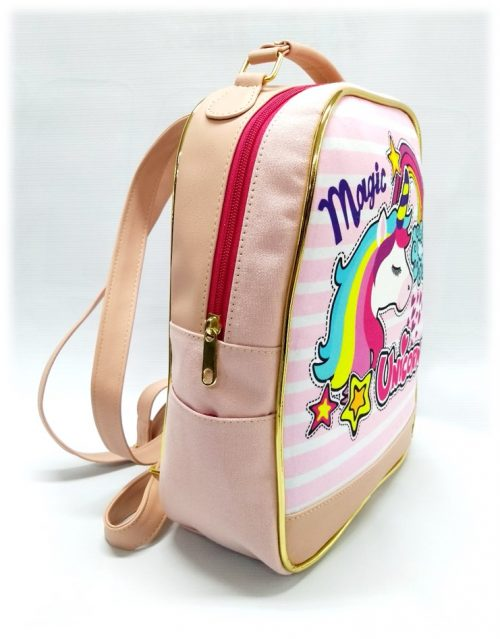 Morral niña magic unicornio 126 rosado lado